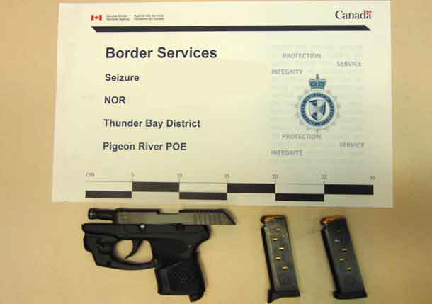 Handgun seized at Pigeon River Point of Entry