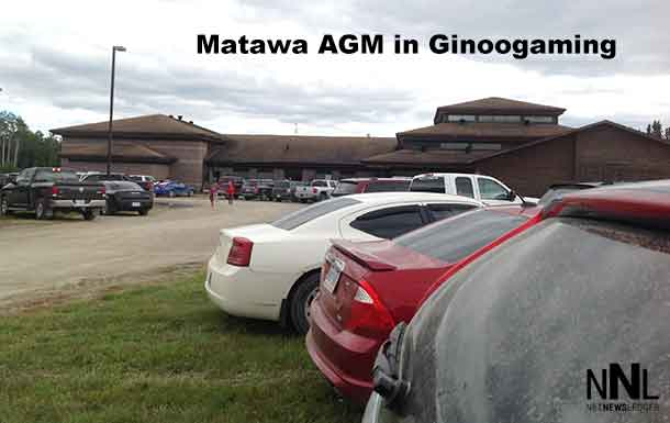 Matawa Chiefs and leaders gathered in Ginoogaming First Nation - Photo by Lakota Perreault