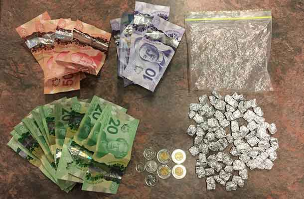 RCMP in Manitoba show the results from a traffic stop that led to a drug bust