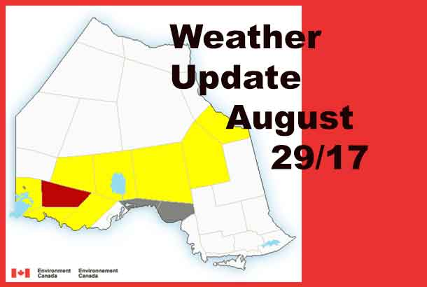 Environment Canada is tracking a back of thunderstorms across Northwestern Ontario