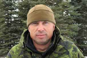 Warrant Officer Carl Wolfe, the Canadian Army instructor who led the river expedition credit: Sergeant Peter Moon, Canadian Rangers