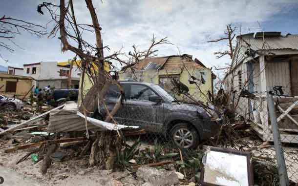 View of the aftermath of Hurricane Irma on Sint Maarten Dutch part of Saint Martin island in the Carribean September 7, 2017. Netherlands Ministry of Defence- Gerben van Es/Handout via REUTERS