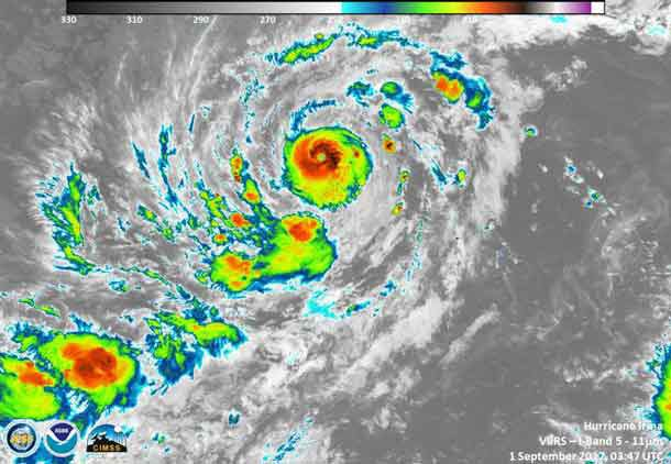 NASA - NOAA Satellite Images of Hurricane Irma - September 1 2017
