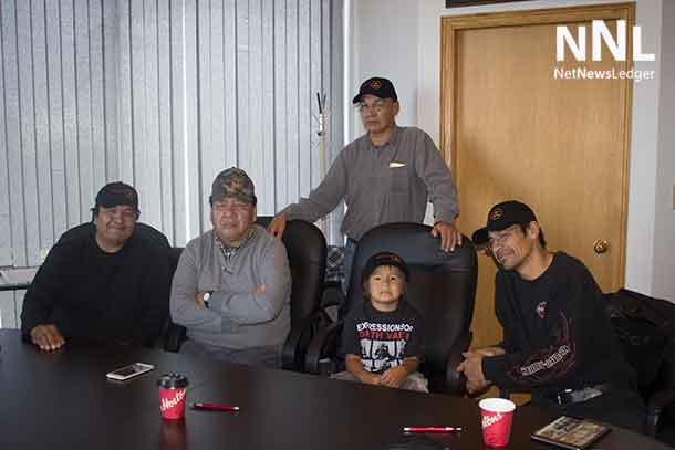Marten Falls Chief and Council along with young Lamarith