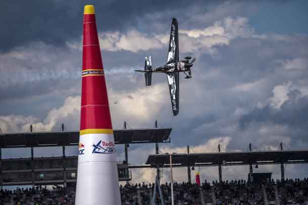 Pete McLeod of Canada performs during race day at the seventh round of the Red Bull Air Race World Championship at Lausitzring, Germany on September 17, 2017. // Joerg Mitter