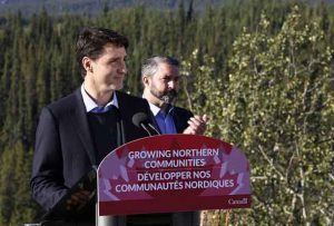 Prime Minister Trudeau announces infrastructure investments in Yukon.