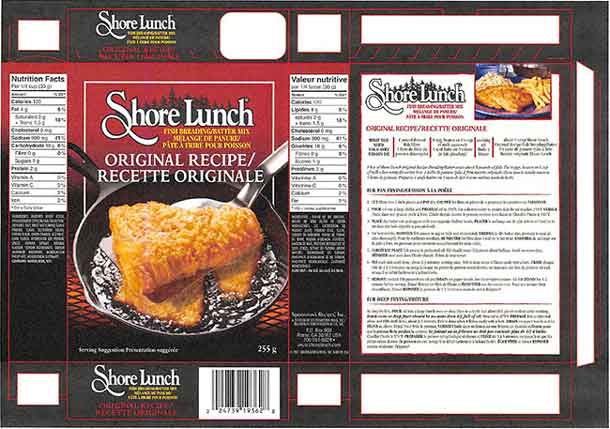 Fish breading mix recalled due to salmonella concerns