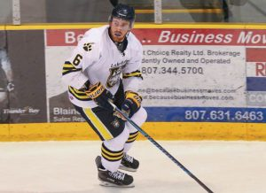 The Lakehead University Thunderwolves men's hockey team named Dillon as team captain for the 2017-18 season