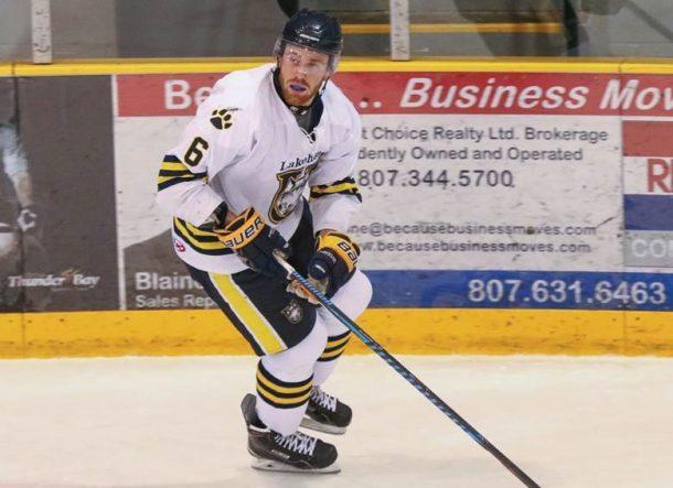 The Lakehead University Thunderwolves men's hockey team named Dillon as team captain for the 2017-18 season