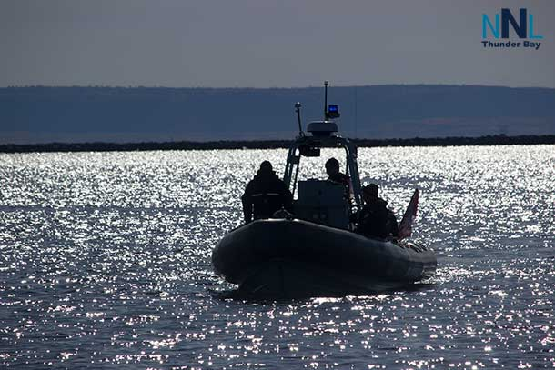HMCS Griffin Pontoon Boat in Thunder Bay Harbour