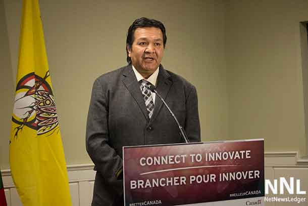 Marten Falls Chief Bruce Achneepineskum welcomes the investment