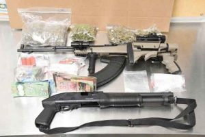 London Police and the RCMP seized drugs, cash and guns following a house fire