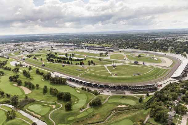 Venue seen during a free practice at the seventh stage of the Red Bull Air Race World Championship at Indianapolis Motor Speedway, Indianapolis, Indiana, United States on September 30, 2016. // Chris Tedesco/Red Bull Content Pool