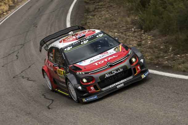 Kris Meeke (GBR) performs during FIA World Rally Championship 2017 Spain in Salou , Spain on 7. October 2016 - Jaanus Ree/Red Bull Content Pool