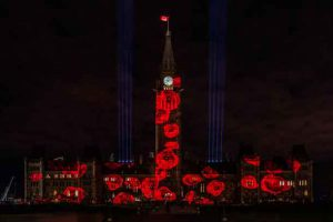 The Royal Canadian Legion's Virtual Poppy Drop on Parliament Hill (CNW Group/The Royal Canadian Legion Dominion Command)