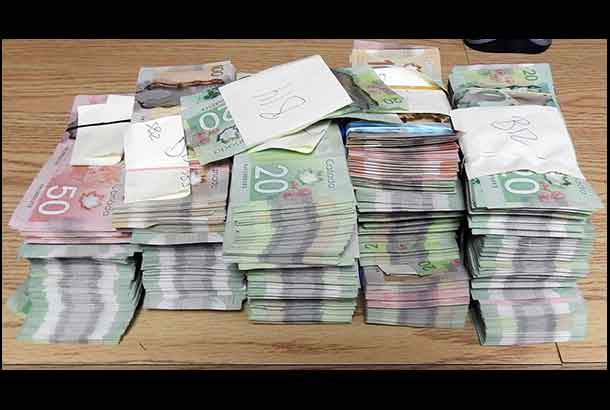 Cash Seized in Thunder Bay Police Service Drug Raid in Shuniah