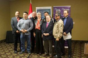 Whitesand Chief and Council with Patty Hajdu and Michael Gravelle