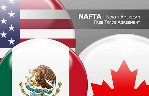 NAFTA USA Canada Mexico - North American Free Trade Agreement