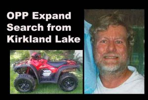 OPP in Kirkland Lake have expanded their search for a missing man