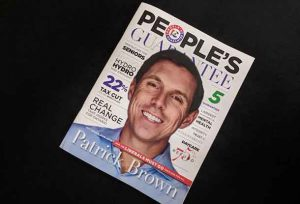 Patrick Brown is putting his face on the Progressive Conservative platform