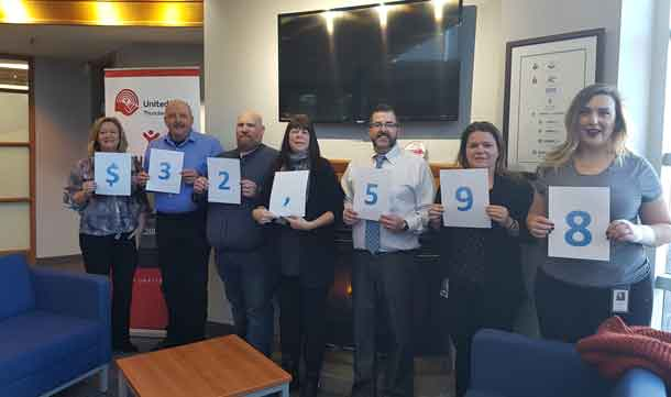Union Gas employees and retirees raised a major donation of $32,598 for the United Way in Thunder Bay