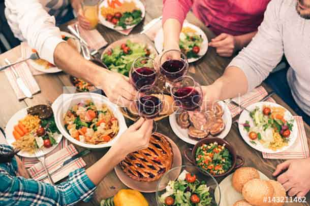 Families that dine together have a healthier time together
