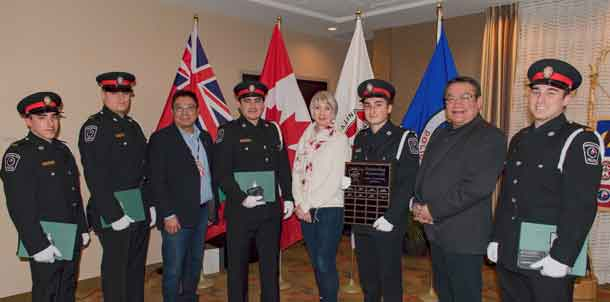 Chief of Police Terry Armstrong presented badges to five new police officers for the Nishnawbe Aski Police Service