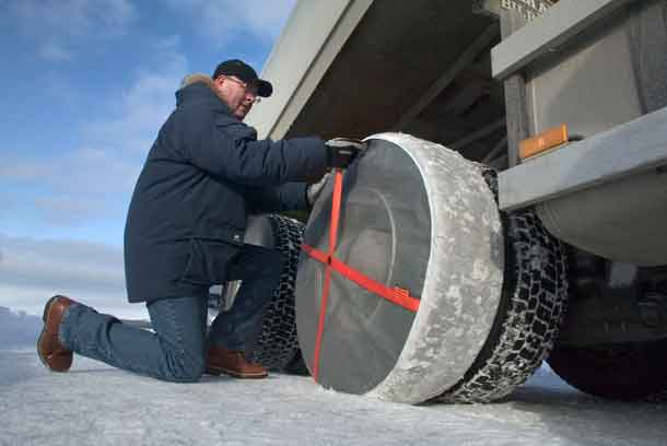 Installing a tire sock takes about three minutes per tire.