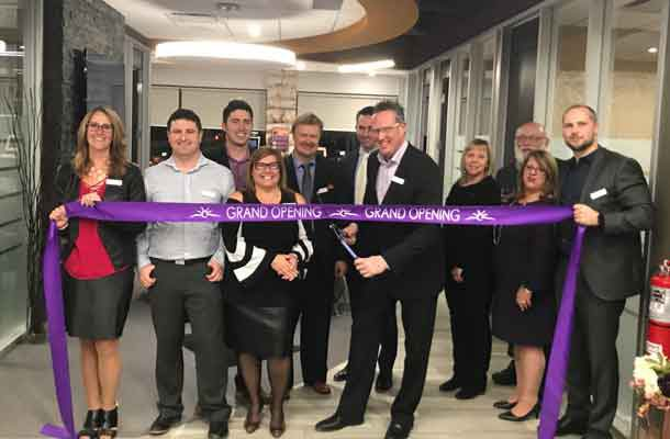 Copperfin Credit Union Board and Senior Leaders Cut the ribbon at the newly open Thunder Bay - Harbour location