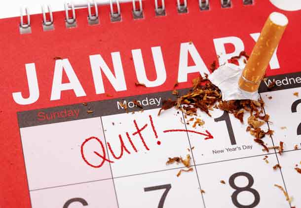 New year's resolution for quitting smoking will take determination and will power - Image www.depositphotos.com
