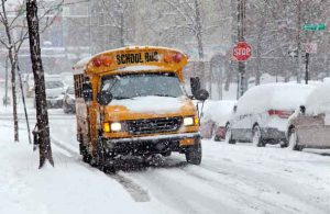 School Buses have to keep safety and weather conditions in mind