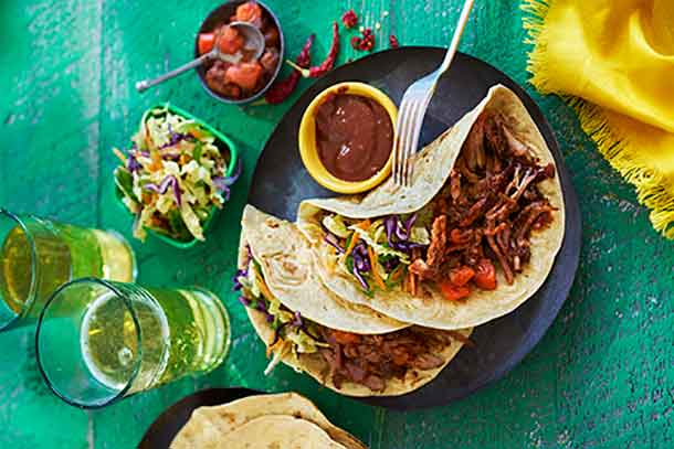 Jerk Pulled Pork Tacos - a twist a perfect for a winter warm-up