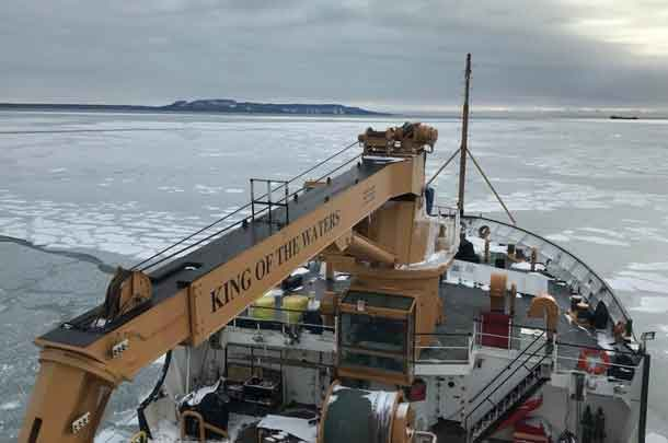 The King of the Waters breaking ice in Thunder Bay on December 22 2017 - Photo by LT Kubasch USCG
