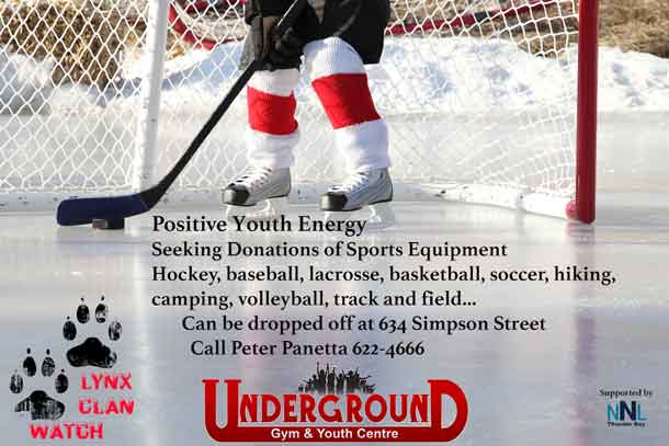 Help Engage and energize youth with your donation to the Underground Gym