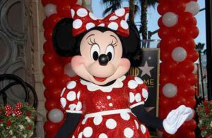 Minnie Mouse on the Hollywood Walk of Fame
