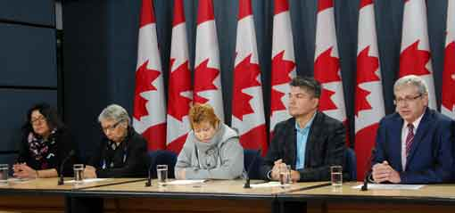 Press conference by St. Anne's School Residential School survivors
