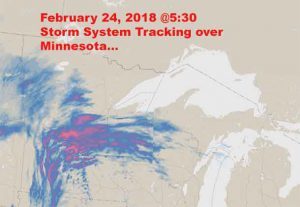 Weather System tracking over Minnesota