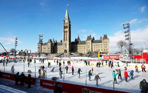 The Canada 150 Rink at Parliament Hill was the federal winner for wasted tax dollars