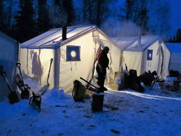 Tents were used for accommodation at the training sites for the exercise. Photo Sgt. Peter Moon