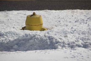 After the recent snow, many fire hydrants are buried