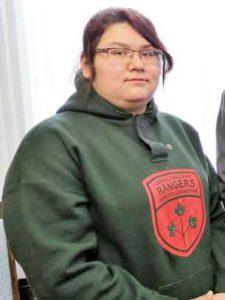 Junior Canadian Ranger Nova Gull of Peawanuck. credit: Sergeant Peter Moon, Canadian Rangers