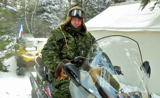 Lt Col. Mathhew Richardson of the Canadian Army with the Canadian Rangers