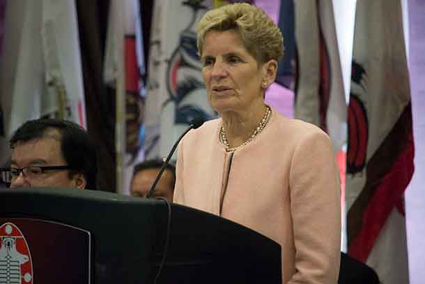 Ontario Premier Kathleen Wynne addresses Nishnawbe Aski Nation Winter Chief's Assembly