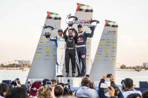 Topping the podium at the start of the 2018 Red Bull Air Race Series