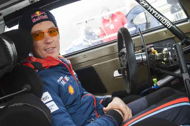 Thierry Neuville (BEL) seen during FIA World Rally Championship 2018 in Torsby, Sweden on 18.02.2018 // Jaanus Ree/Red Bull Content Pool //