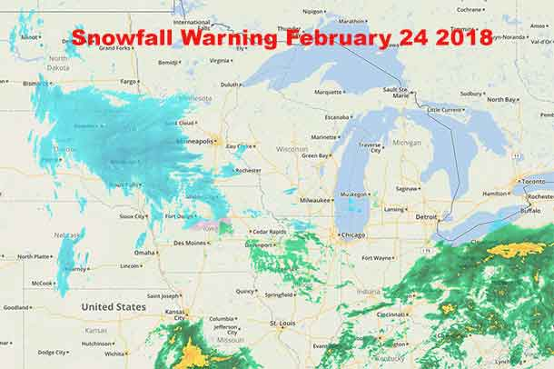 Snowfall Warning February 24 2018