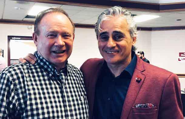 Atikokan Mayor Brown with Minister Bill Mauro