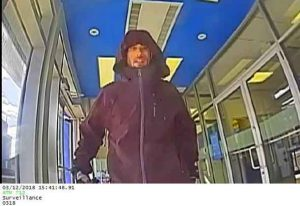 Attempted Bank Robbery Suspect - If you have any information or witnessed this crime you're asked to call the Dryden Police Service immediately at 807-223-3281.