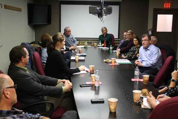 Kenora MP Bob Nault hosts a roundtable on the 2018 Federal Budget with business owners and stakeholders in Kenora on Wednesday, March 14, 2018.