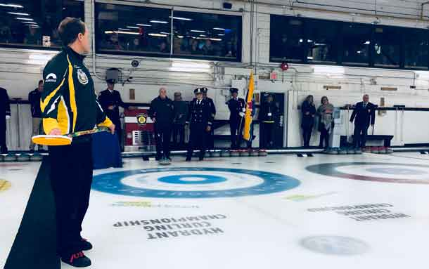 The opening stone at the Canadian Firefighters Curling Championship has been thrown, the event is underway and runs until April 7th.